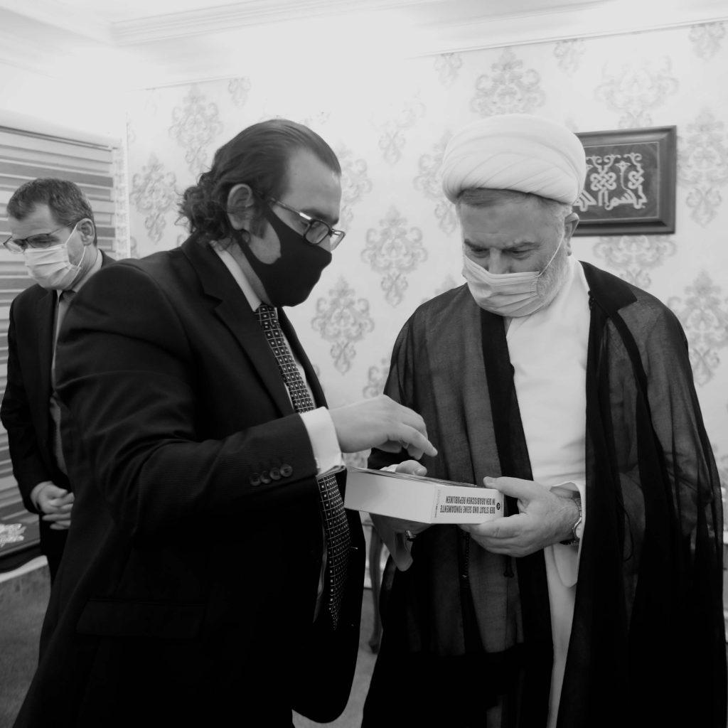 With Sheikh Humam Hammoudi.