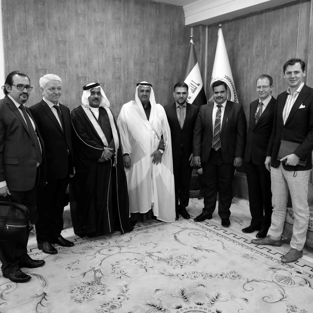With Dr. Baqir al-Zubaidi and tribal leaders from the Ninawah province.
